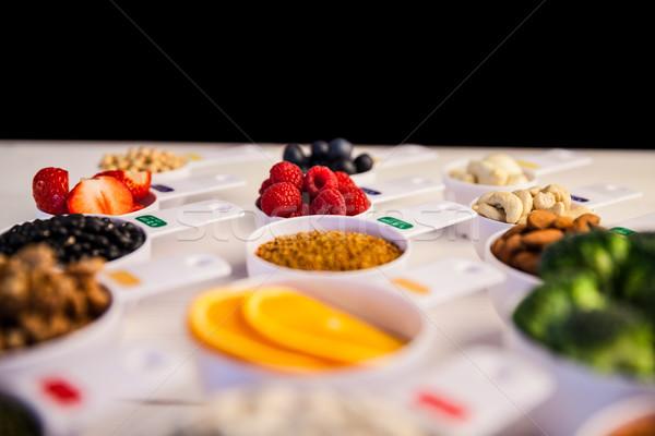 здорового Ингредиенты деревянный стол клубника Сток-фото © wavebreak_media