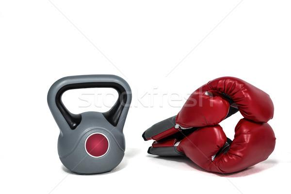 Hozzávalók erős test fehér fitnessz képzés Stock fotó © wavebreak_media