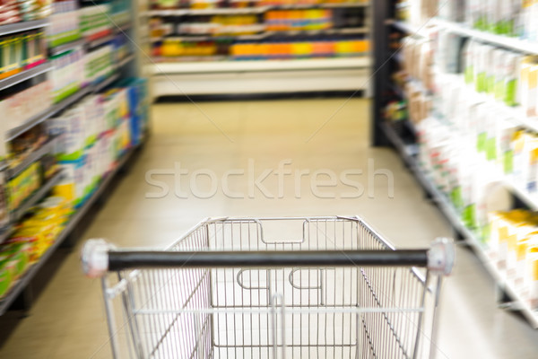 Trolley with product on shelf  Stock photo © wavebreak_media
