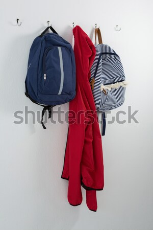 Caliente ropa paraguas stand primer plano Foto stock © wavebreak_media