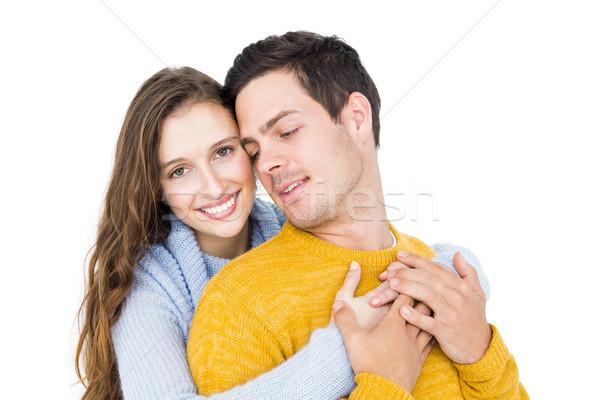 Mosolyog pár átkarol fehér boldog női Stock fotó © wavebreak_media