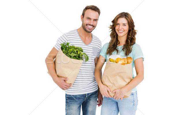 幸せ 袋 野菜 肖像 ストックフォト © wavebreak_media