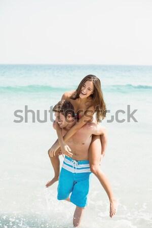 Portre güzel kadın bikini ayakta plaj el Stok fotoğraf © wavebreak_media
