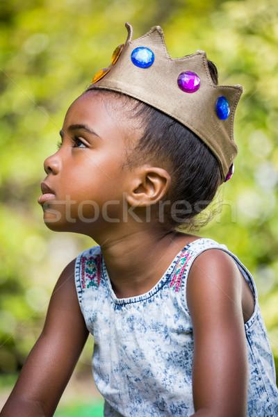 Girl wearing a king crown Stock photo © wavebreak_media