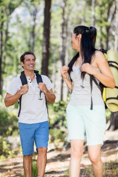 Couple smiling and hiking  Stock photo © wavebreak_media