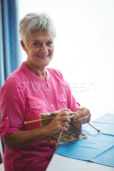 Aposentados sorrindo retrato mulher feliz Foto stock © wavebreak_media