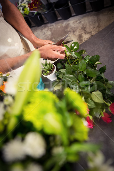 Male florist trimming stems of flowers at flower shop Stock photo © wavebreak_media