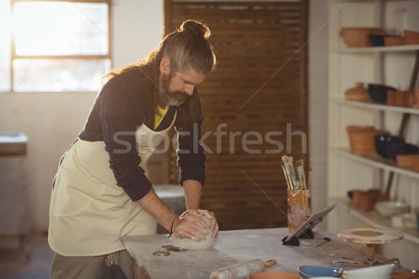 Male potter molding clay Stock photo © wavebreak_media