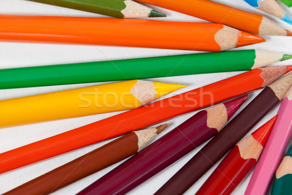 Crayons blanche art éducation Photo stock © wavebreak_media
