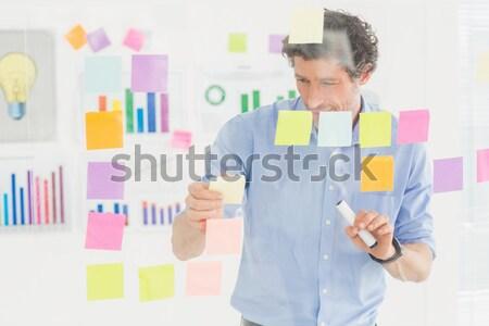 Portré igazgató ül kéz áll iroda Stock fotó © wavebreak_media