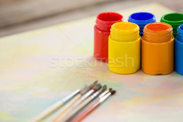 кисти бумаги образование Живопись бутылку щетка Сток-фото © wavebreak_media