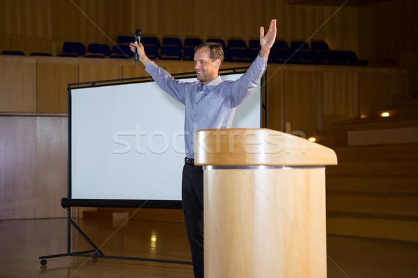 Negócio executivo discurso homem reunião empresário Foto stock © wavebreak_media