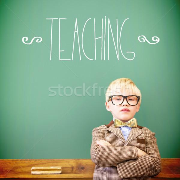 Tanít aranyos felfelé tanár osztályterem portré Stock fotó © wavebreak_media