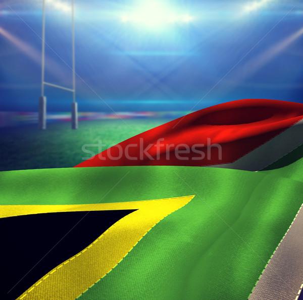 Composite image of waving flag of south africa Stock photo © wavebreak_media