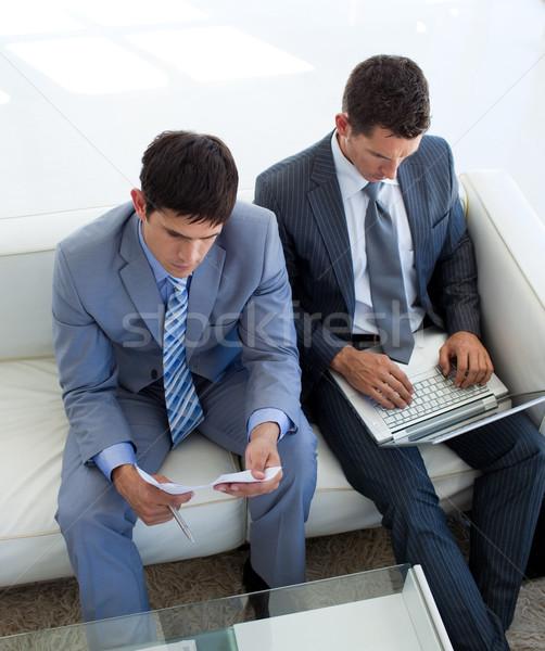 Two businessmen in a waiting room Stock photo © wavebreak_media