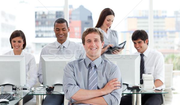Portrait réussi équipe commerciale travaux bureau affaires Photo stock © wavebreak_media