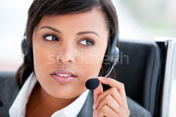 Portret piękna obsługa klienta agent pracy biuro Zdjęcia stock © wavebreak_media