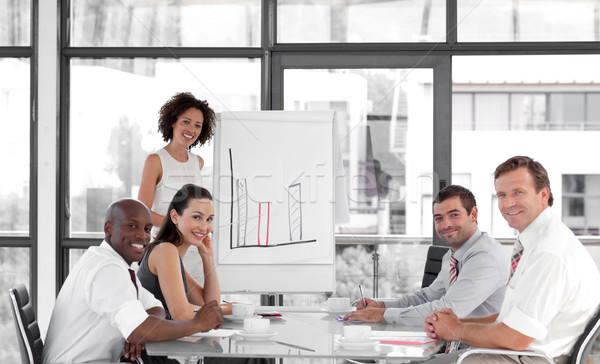 Kobiet business woman prezentacji biznesmen monitor garnitur Zdjęcia stock © wavebreak_media