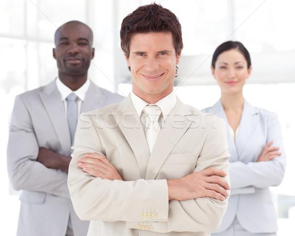 Poważny atrakcyjny kierownik zespołu biuro kobieta Zdjęcia stock © wavebreak_media