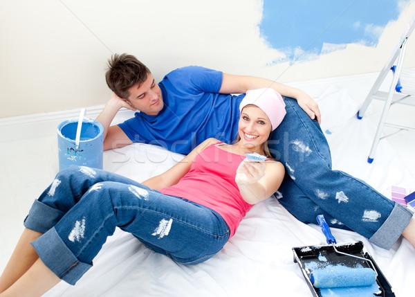 внимательный пару расслабляющая комнату любви Сток-фото © wavebreak_media