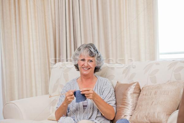 Stok fotoğraf: Emekli · kadın · ev · ev · mutlu