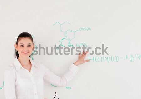 Aantrekkelijk wetenschapper formule assistent lab gezicht Stockfoto © wavebreak_media