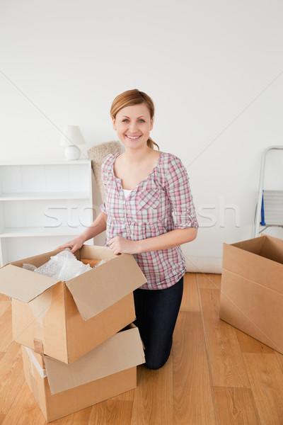 Mosolyog nő mozgás ház lány nők Stock fotó © wavebreak_media