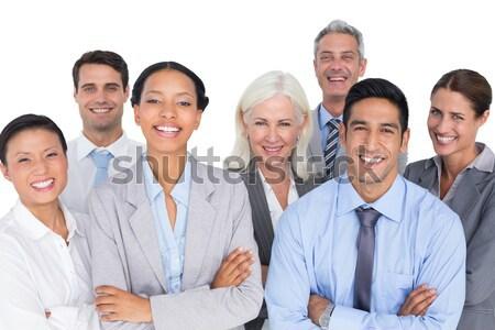 Collage accueillant gens d'affaires affaires femmes travaux Photo stock © wavebreak_media