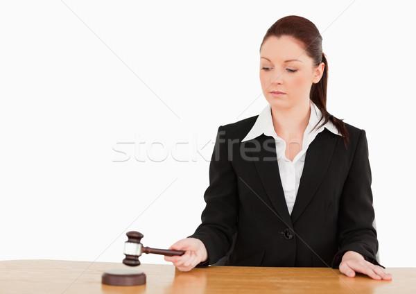 молодые судья молоток белый стороны прав Сток-фото © wavebreak_media