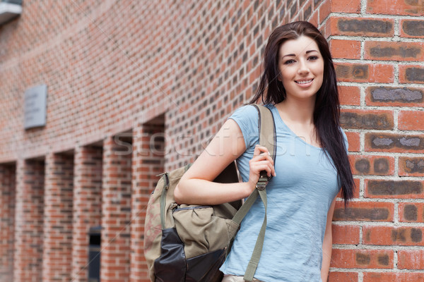 Student standing up outside a building Stock photo © wavebreak_media