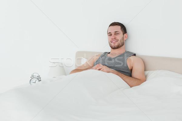 Csendes férfi felfelé hálószoba boldog otthon Stock fotó © wavebreak_media