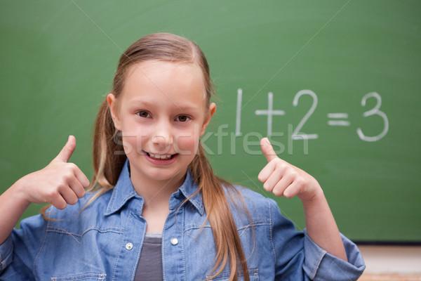 Studentessa scuola studente verde classe Foto d'archivio © wavebreak_media