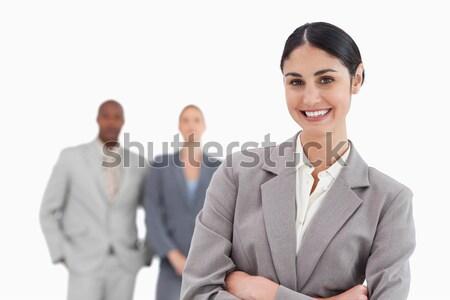 улыбаясь за белый бизнеса улыбка Сток-фото © wavebreak_media