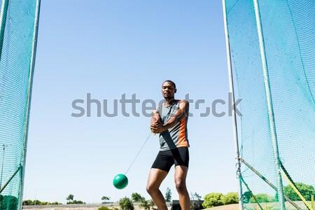 Férfi futballista fehér futball sportok atléta Stock fotó © wavebreak_media