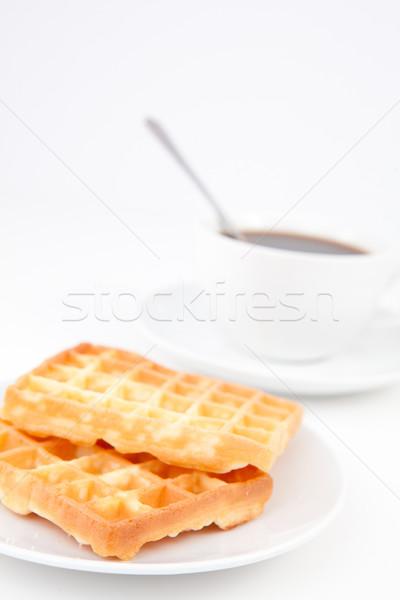 Copo café colher branco placas Foto stock © wavebreak_media