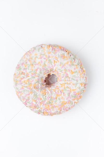 Extrém közelkép fánk porcukor fehér torta Stock fotó © wavebreak_media