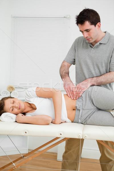 Sério mulher quarto homem médico médico Foto stock © wavebreak_media