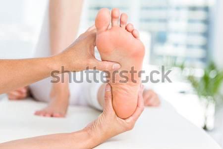 Doktor ayak kadın ofis tıbbi Stok fotoğraf © wavebreak_media