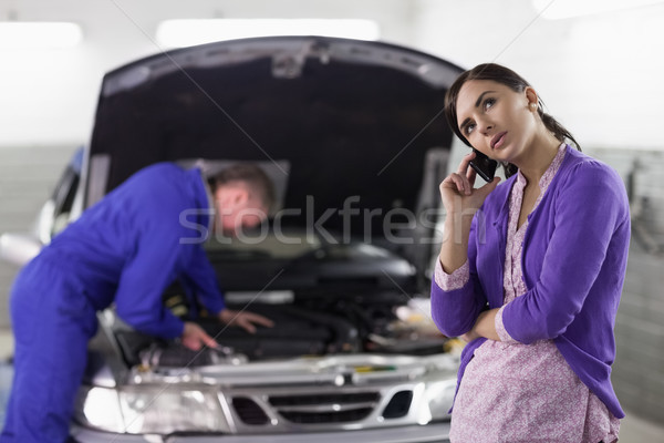 クライアント 呼び出し メカニック ガレージ 車 通信 ストックフォト © wavebreak_media