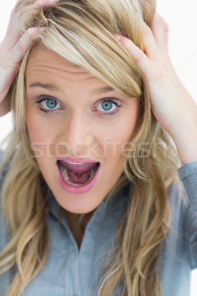 Woman looking frustrated and screaming Stock photo © wavebreak_media