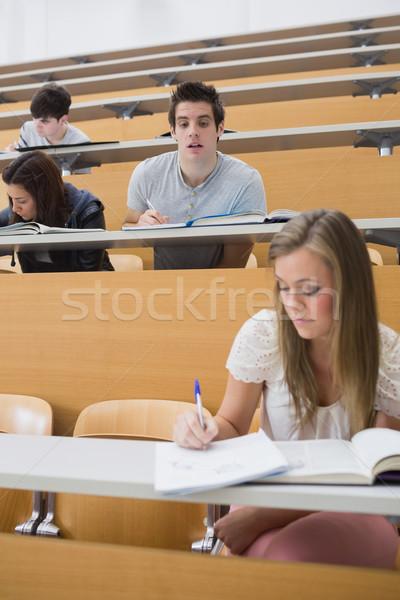 学生 見える 学生 作業 講義 ストックフォト © wavebreak_media