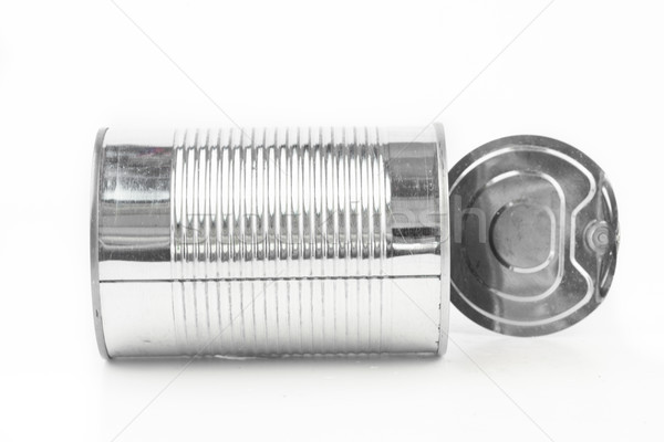 Empty metal tin can opening for recycling Stock photo © wavebreak_media
