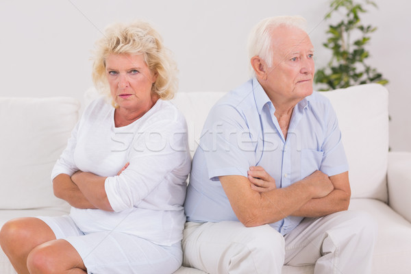 Elderly woman being angry against a man Stock photo © wavebreak_media