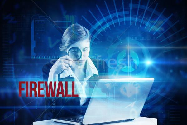 Firewall azul tecnologia interface discar palavra Foto stock © wavebreak_media