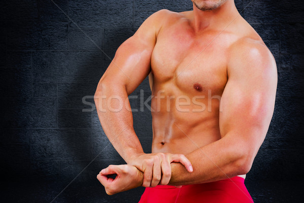 Composite image of bodybuilder  Stock photo © wavebreak_media