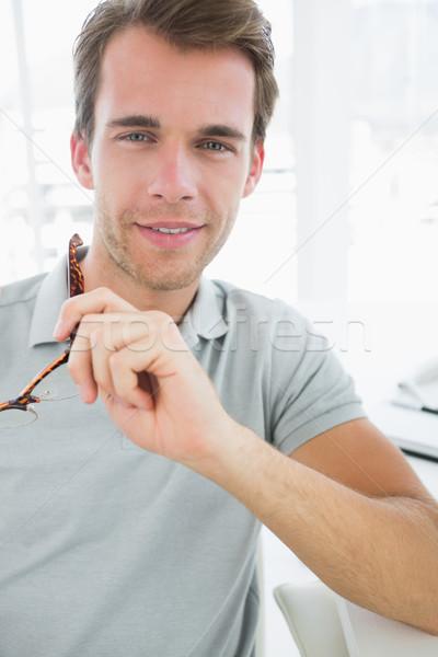 Portret toevallig mannelijke foto editor glimlachend Stockfoto © wavebreak_media