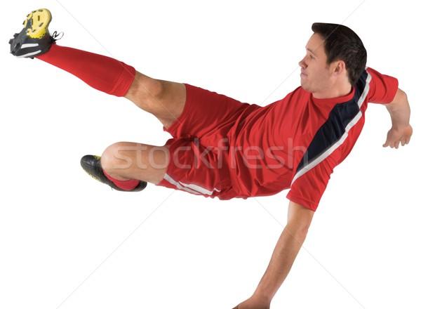 Czerwony biały człowiek piłka nożna Zdjęcia stock © wavebreak_media