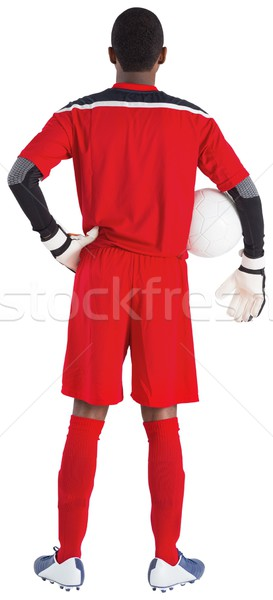 Torhüter rot halten Ball weiß Fußball Stock foto © wavebreak_media