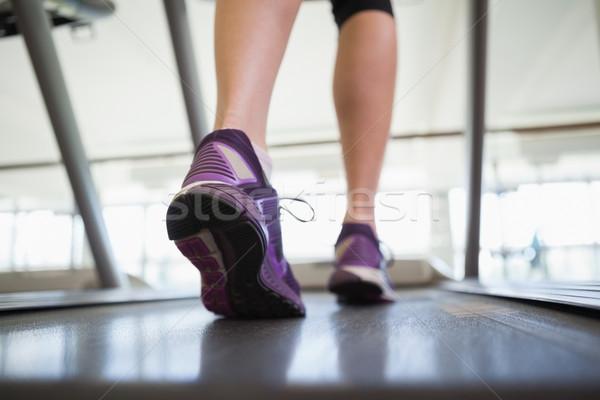 Woman walking on the treadmill Stock photo © wavebreak_media