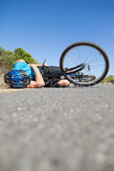 Kerékpáros út baleset napos idő nyár bicikli Stock fotó © wavebreak_media